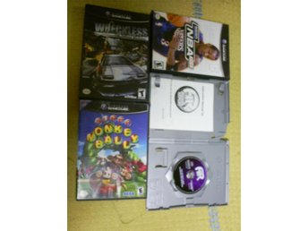 3 GAMECUBE SPEL + ACTION REPLAY,BLA SUPER MONKEY BALL