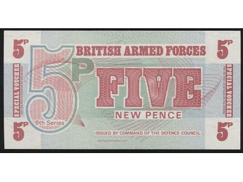 British Armed Forces 5 Pence 1972 se bild