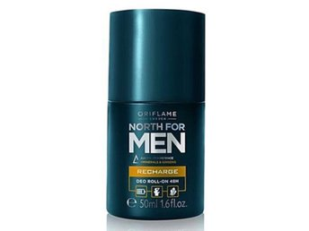 North for men Deo roll-on. Recharge 48 timmars skydd Oriflame Ny/oanvänd