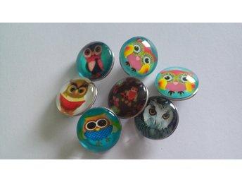 Paket Knappar ugglor för Noosa/chunk button smycken Rosa - Bollebygd - Paket Knappar ugglor för Noosa/chunk button smycken Rosa - Bollebygd