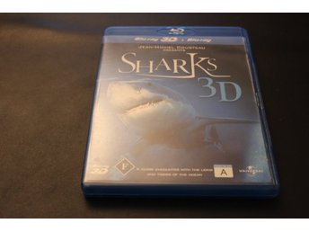 Bluray3D+Bluray-film: Sharks 3D (Jean-Michel Cousteau)