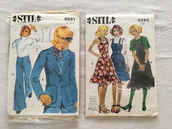 Vintage mönster symönster 70 80 tal. Stll 36 resp B148