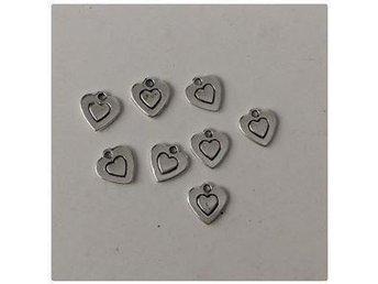 40st hjärt berlocker 10,5x10mm - Vikingstad - 40st hjärt berlocker 10,5x10mm - Vikingstad
