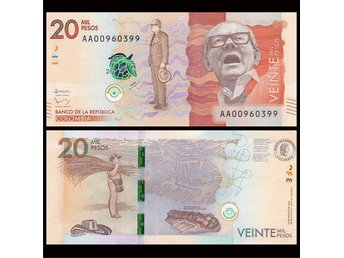 Colombia 20,000 Pesos 2015 P-NEW UNC