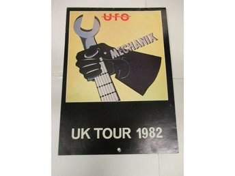 UFO - Mechanix UK Tour 1982 (Turneprogram) - Ganska Fint Skick!