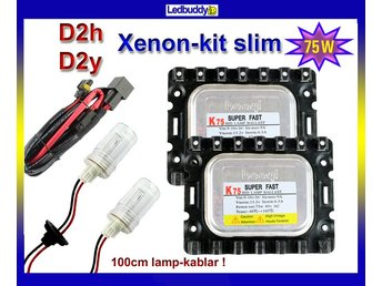 Xenon Kit 75W D2h D2y 4300K Slim Super Fast HID xenonkit  speed start