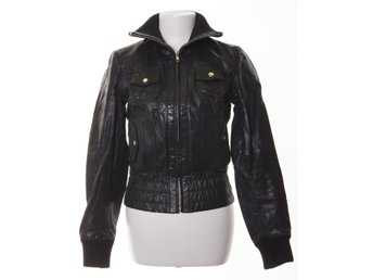 Vero Moda, Skinnjacka, Strl: S, Kassy Short Leather Jacket- Camp, Svart