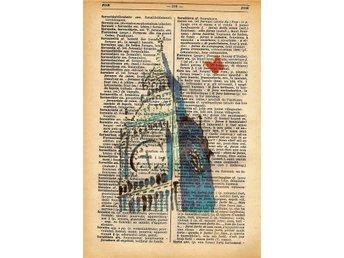 Big Ben - Skriva ut på italienska-franska lexikon 1939 - Melfi - Big Ben - Skriva ut på italienska-franska lexikon 1939 - Melfi
