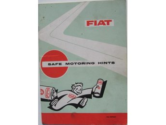 1965 Fiat Safe Motoring Hints alla modeller