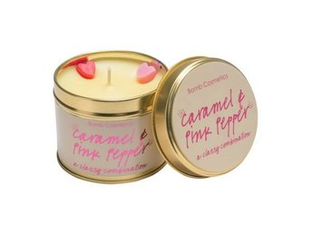 Bomb Cosmetics Tin Candle Caramel & Pink Pepper