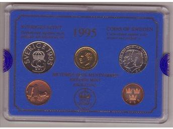 1995 Års Mynt i Plomberad Hårdplastkasett - Norrköping - 1995 Års Mynt i Plomberad Hårdplastkasett - Norrköping
