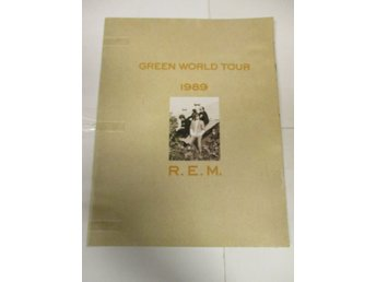 R.E.M - Green World Tour 1989 (Turneprogram) - Fint Skick!