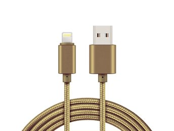 2m Lightning kabel för iPhone/iPad - iOS 11 - Guld