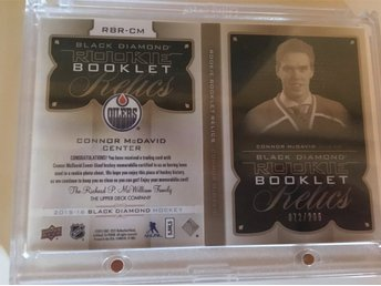 CONNOR MCDAVID Blackdiamond ROOKIE BOOKLET