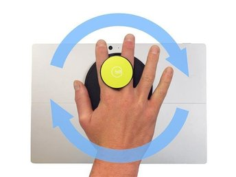 G-Hold Ergonomic Handhold for Microsoft Surface (Low-profile Velcro) /Yellow