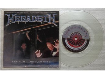 "MEGADETH 'Train Of Consequences' UK 7"", CLEAR WAX - Bröndby - MEGADETH 'Train Of Consequences' UK 7"", CLEAR WAX - Bröndby"