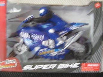 Team Power Superbike Stor Motorcykel MC 30 cm blå - Uddevalla - Team Power Superbike Stor Motorcykel MC 30 cm blå - Uddevalla