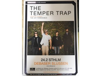 Poster The Temper Trap i toppskick