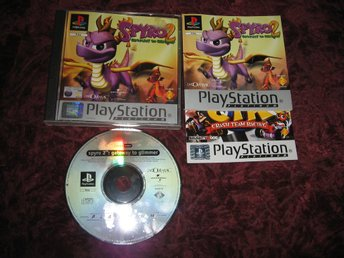 SPYRO 2 - GATEWAY TO GLIMMER - PLAYSTATION ONE - KOMPLETT - SVENSKSÅLD - RETRO