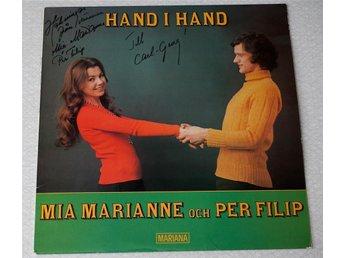 Mia Marianne och Per Filip / Hand i hand 1975 LP Signerad! - Enskede - Mia Marianne och Per Filip / Hand i hand 1975 LP Signerad! - Enskede