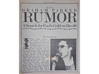 GRAHAM PARKER - SEARCH FOR FOOL'S GOLD ON RTE.66, 6-Sidor TIDNINGSARTIKEL 1977