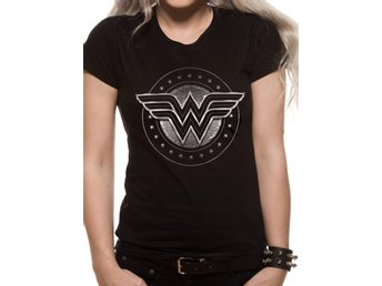 WONDER WOMAN MOVIE - CHROME LOGO (FITTED)  T-Shirt - X-Large