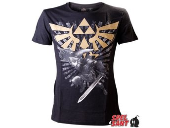 Nintendo Zelda Logo and Link T-Shirt (X-Large)