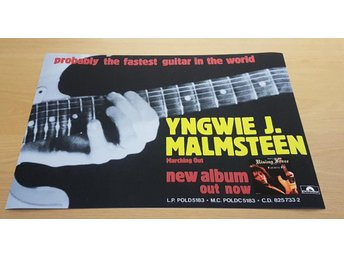 YNGWIE MALMSTEEN MARCHING OUT 1985 POSTER