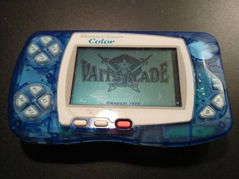 WonderSwan COLOR - Skeleton Blue - Fullt fungerande!