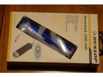 Dunlop Powerbank 2200MAh inkl inbyggd led ficklampa - Bro - Dunlop Powerbank 2200MAh inkl inbyggd led ficklampa - Bro