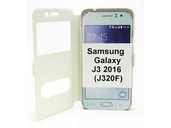 """Flipcase Samsung Galaxy J3 2016 (J320F) (Vit) - Tibro / Swish 0723000491 - SE / DK / ENG SEFlipcase med standcase funktion för Samsung Galaxy J3 2016 (J320F)Skydda din telefon utan att den blir stor och 'klumpig'. Med denna flipcase får du både skydd och en snygg telefon.Med litet """"fönster"""" på fra - Tibro / Swish 0723000491"""