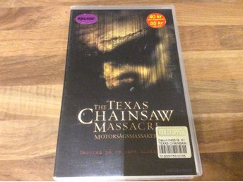 The Texas Chainsaw massacre motorsågasmassakern Hyr VHS