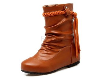 Dam Boots Tassels Women Boots Zapatos Mujer Yellow 42