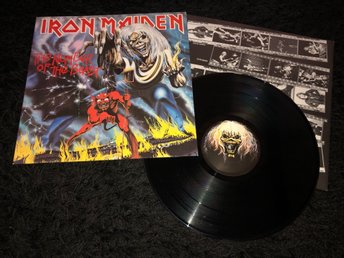 IRON MAIDEN THE NUMBER OF THE BEAST HOLLAND 1982 MYCKET FINT EX