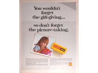 KODAK FILM - DON'T FORGET THE PICTURE-TAKING TIDNINGSANNONS Retro 1968