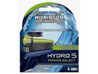 STORREA! WILKINSON Sword HYDRO 5 Power Select 4- pack rakblad