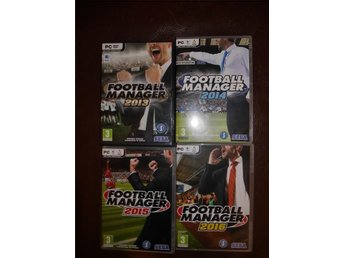 Football Manager 2013 till 2016.