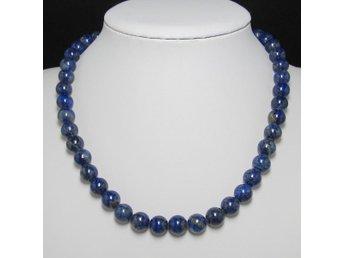 Halsband 48cm av naturlig lapis lazuli 10mm och 925 Silver - Panyu District,guangzhou City - Halsband 48cm av naturlig lapis lazuli 10mm och 925 Silver - Panyu District,guangzhou City