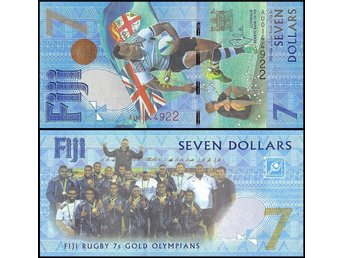 Fiji 7 Dollars 2016 UNC,Rugby 7s Gold Olympians Summer Olympics Brazil