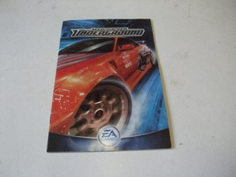 Need for speed Underground Manual engelsk text