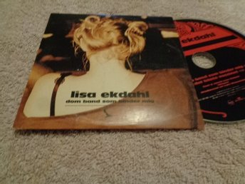 LISA EKDAHL CD SINGEL DOM BAND SOM BINDER MEJ MED PROMO STICKER 2004