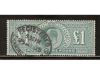 Mi 118 1£ 1902 very fine used, signed Gebr. Senf, Leipzig