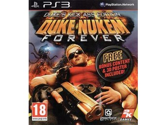 Duke Nukem Forever Kick Ass Edition (inkl. 3D glasögon) - Helt nytt till PS3!!!