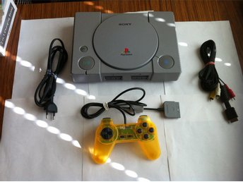 PS1: PS1 Sony Playstation Basenhet komplett