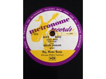 Alice Babs.   Metronome J 383.