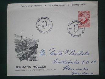 GRÖNLAND RÄV FUCHS FOX - FDC 1966 MICHEL NR. 66 / 2:50 € - Valkeala - GRÖNLAND RÄV FUCHS FOX - FDC 1966 MICHEL NR. 66 / 2:50 € - Valkeala