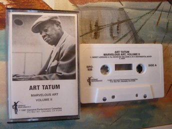 ART TATUM, MARVELOUS ART, VOL. 2, SWEET LORRAINE, 1987, KASSETTBAND