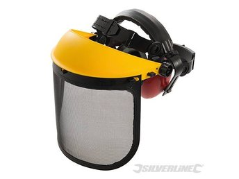 FORESTRY SAFETY HAT & EAR DEFENDERS helmet chainsaw 140878