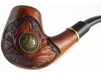 Carved tobacco smoking pipe *Viking* (for 9mm filter) | pipa