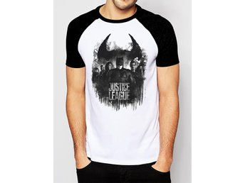 JUSTICE LEAGUE MOVIE - GROUP AND LOGO (UNISEX RAGLAN) - Small